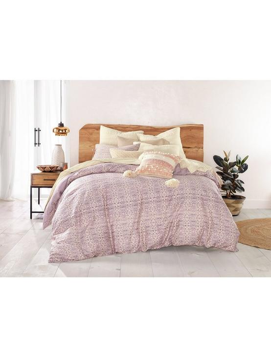 DISTRESSED TILE DUVET SET, DARK PURPLE, productTileDesktop