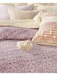 DISTRESSED TILE COMFORTER SET, DARK PURPLE