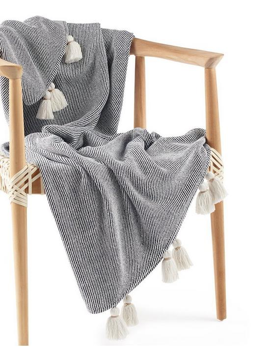 TASSEL THROW BLANKET 50X60, RINSE, productTileDesktop