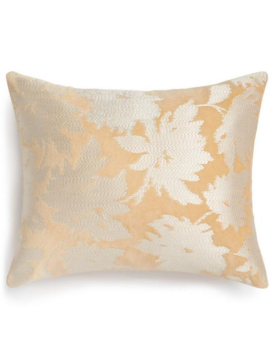EMBROIDERED FLORAL DECORATIVE PILLOW, MEDIUM BEIGE, productTileDesktop