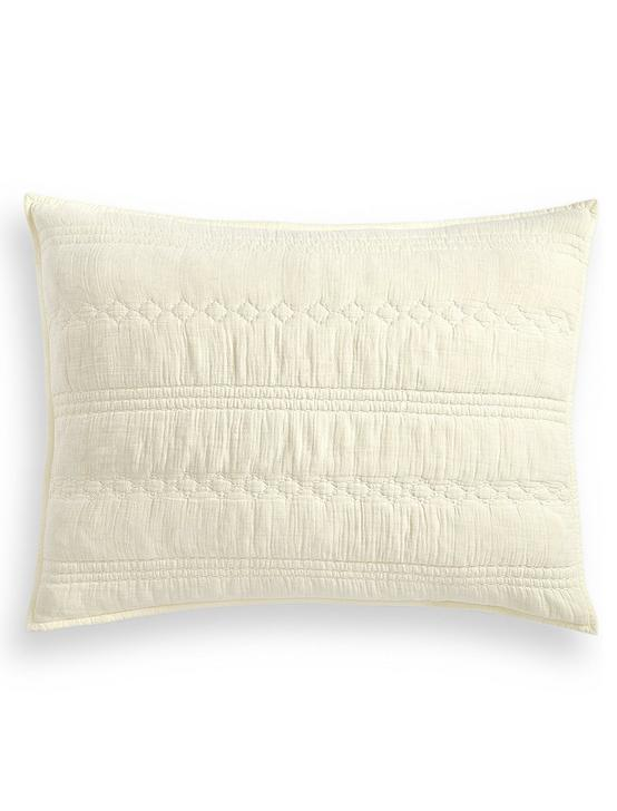 CRINKLE GAUZE PILLOW SHAM, DARK BEIGE, productTileDesktop