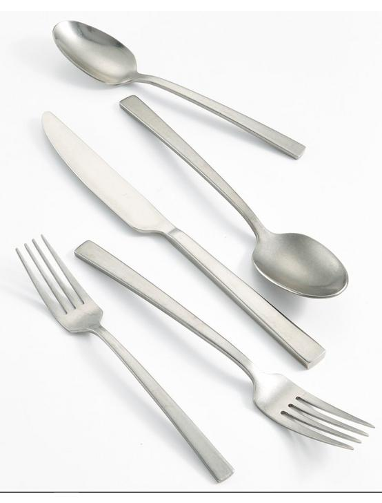 STAINLESS RUMBLE 20 PIECE FLATWARE SET, NO COLOR, productTileDesktop