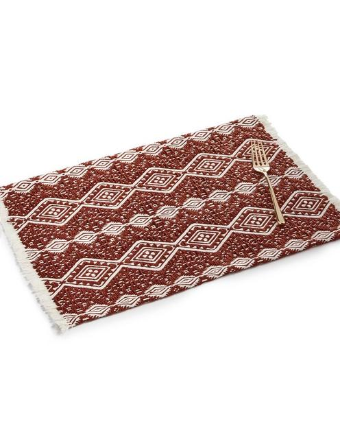 JACQUARD PLACEMAT WITH FRINGE, NO COLOR