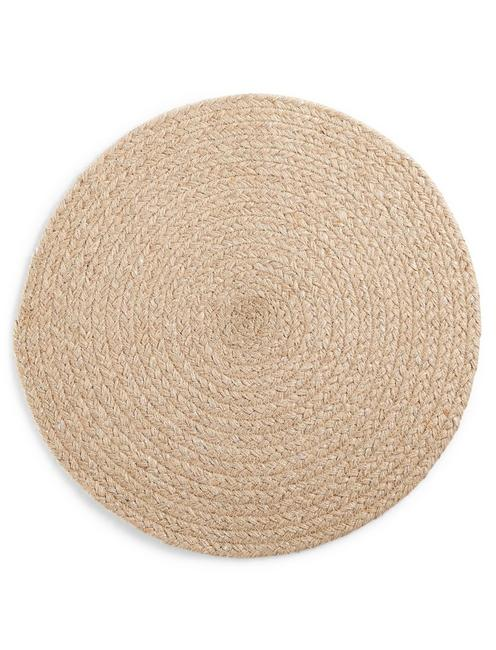 ROUND CHEVRON PLACEMAT - NATURAL,