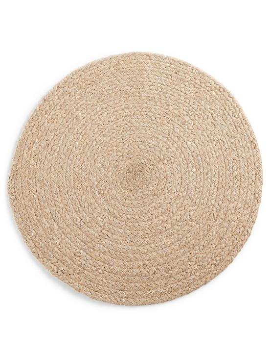 ROUND CHEVRON PLACEMAT - NATURAL