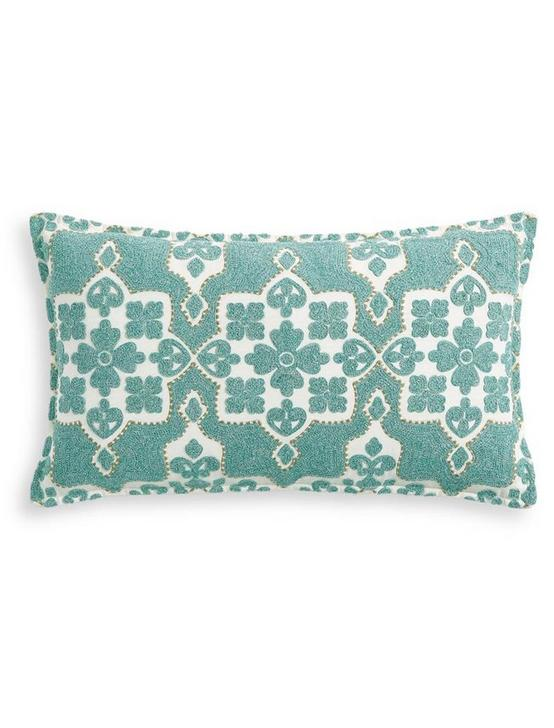 MOROCCAN TILE DECORATIVE PILLOW 14X24, RINSE, productTileDesktop
