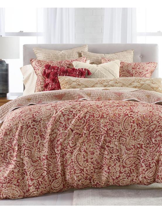 BRIANNA FQ COMFORTER SET, DARK RED, productTileDesktop