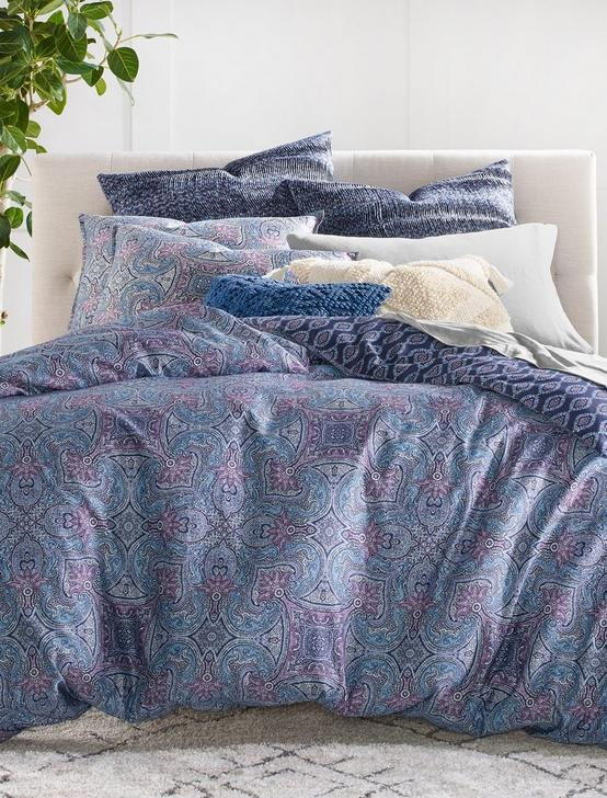 ETCH SCARF FQ COMFORTER SET, DARK PURPLE, productTileDesktop
