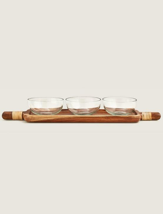 SET OF THREE BOWLS WITH TRAY, NO COLOR, productTileDesktop