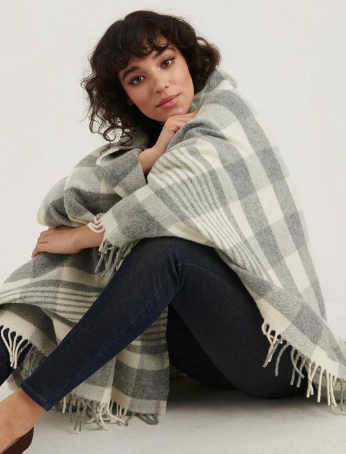 Faribault Plaid Wool Throw Blanket,