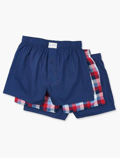 3 PACK WOVEN BOXER BRIEF,