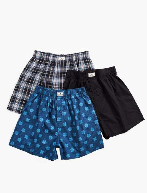 Lucky 3 Pack Woven Boxer