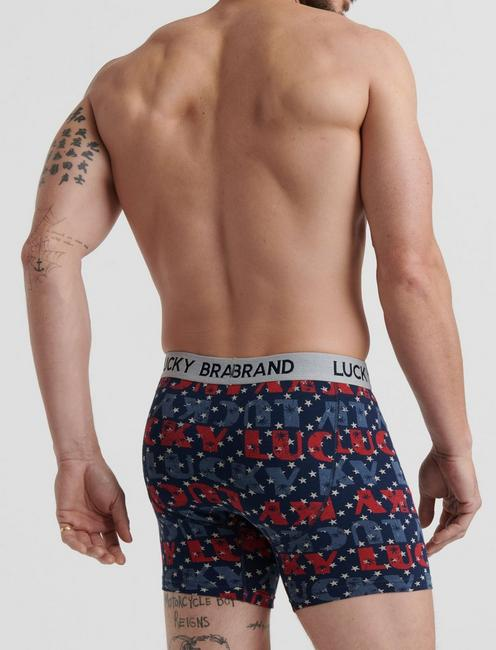 LUCKY BRANDED AMERICANA 3 PACK BOXERS, MULTI