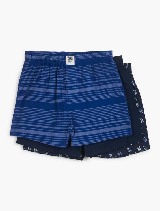 3 PACK MULTI WOVEN BOXERS
