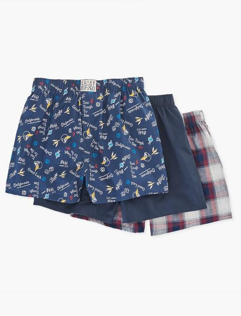 MULTI WOVEN 3 PACK BOXERS, MULTI