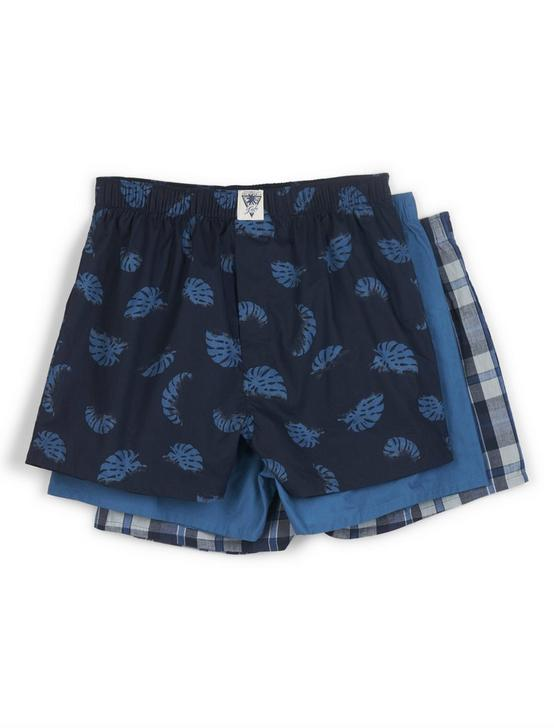 3 PACK PALM PRINT MULTI WOVEN BOXERS, MULTI, productTileDesktop