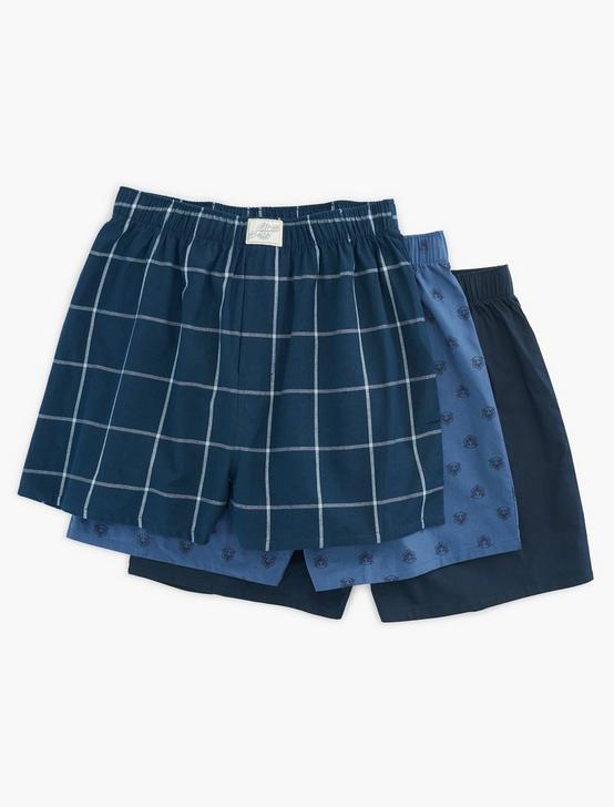 MULTI 3 PACK WOVEN BOXERS, MULTI, productTileDesktop