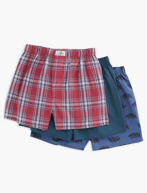 3 PACK WOVEN CAMPING BOXERS,