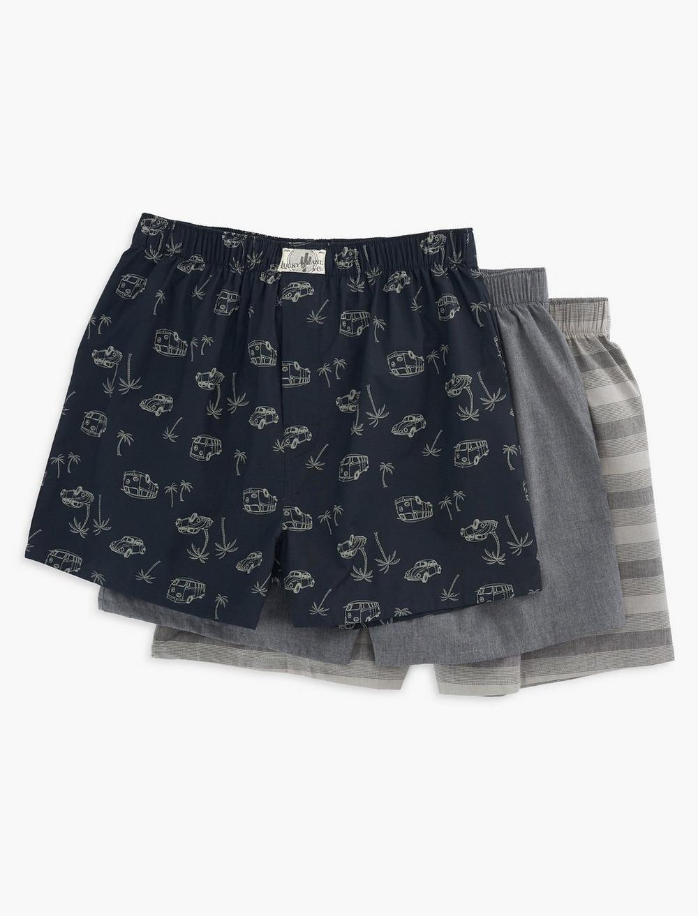 TROPICAL BUX 3 PACK WOVEN BOXERS, image 1