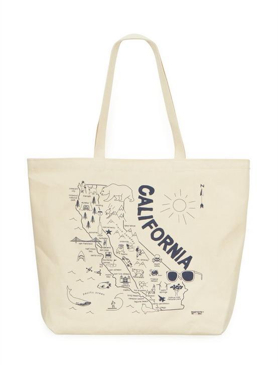 Maptote California Beach Tote Bag, OPEN BROWN/RUST, productTileDesktop