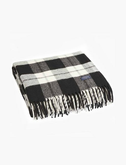 Faribault Bison Check Throw Blanket,