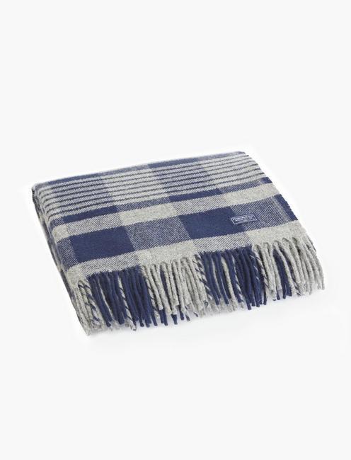 Faribault Plaid Wool Throw Blanket, RINSE
