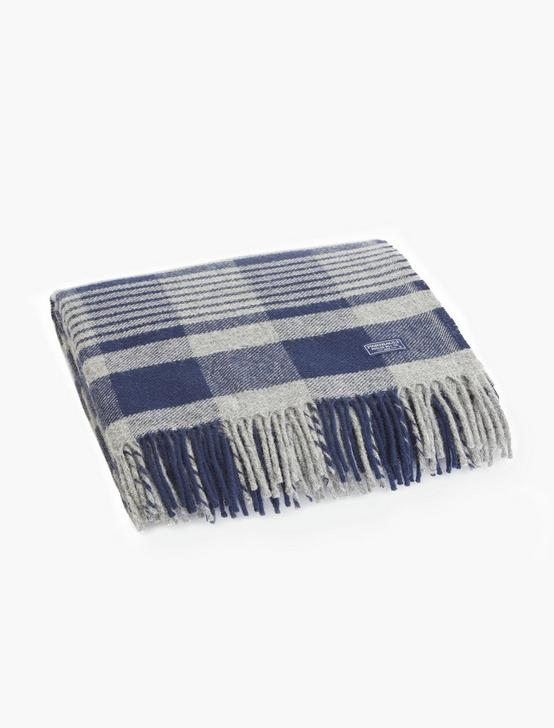 Faribault Plaid Wool Throw Blanket, RINSE, productTileDesktop