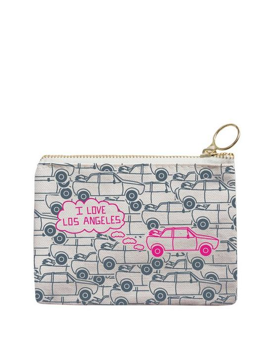 Maptote Los Angeles Coin Purse, grey, productTileDesktop