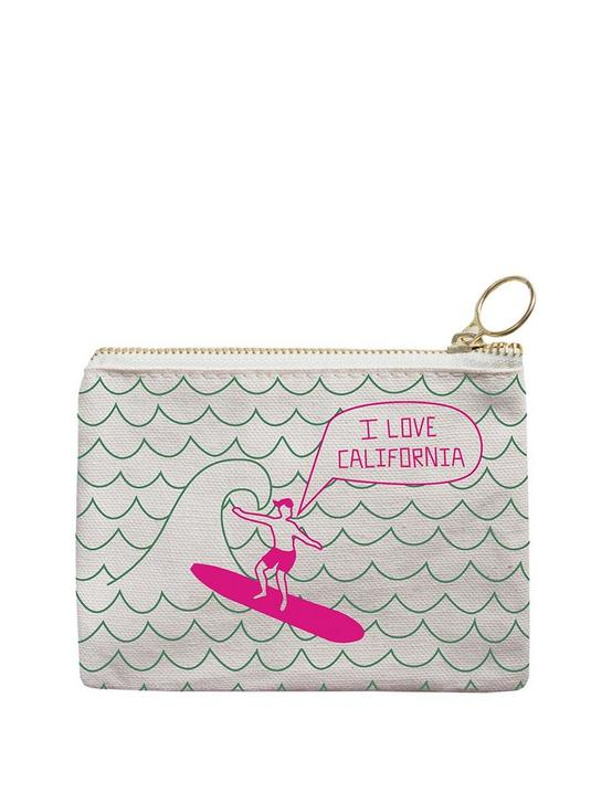 Maptote California Coin Purse, green gecko, productTileDesktop
