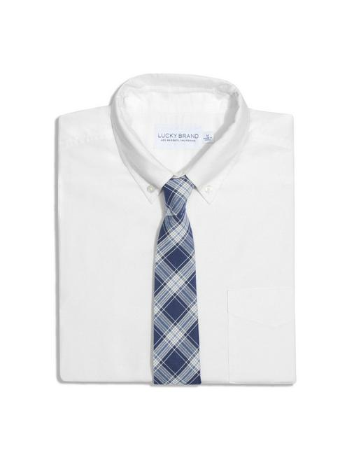 FORAGE BLUE PLAID TIE,