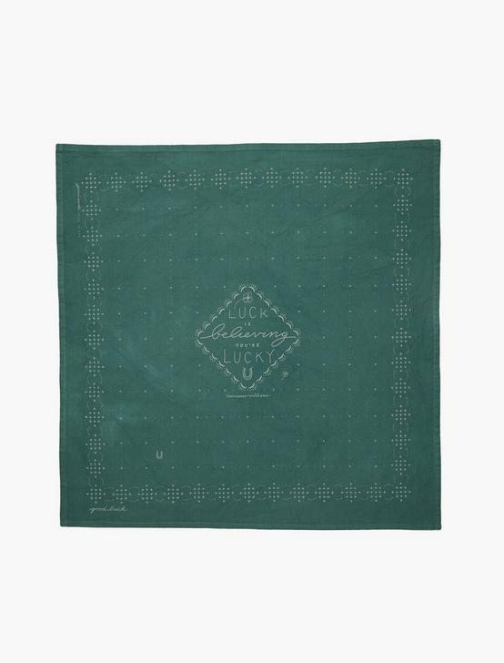 Jenni Earle Good Luck Bandana, BRIGHT GREEN, productTileDesktop