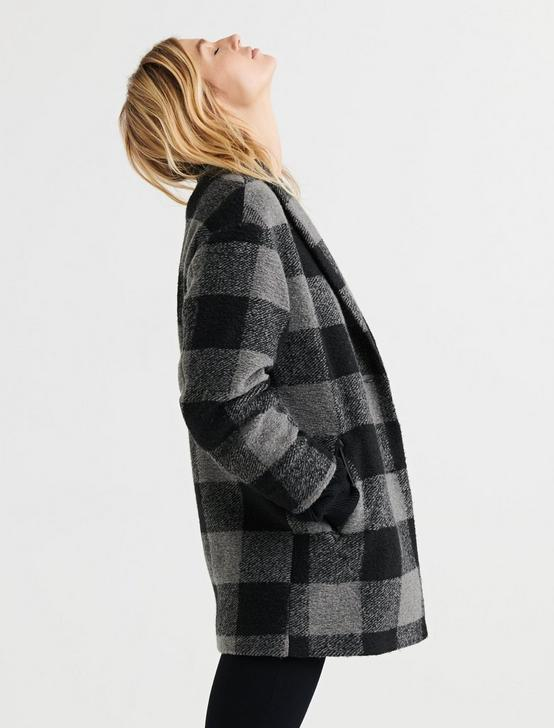 BUFFALO CHECK COAT, GREY MULTI, productTileDesktop