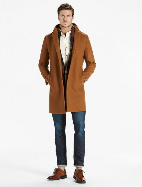 Fifth Avenue Car Coat, BROWN