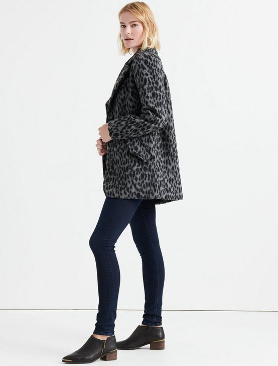 LEOPARD CAR COAT, GREY MULTI, productTileDesktop