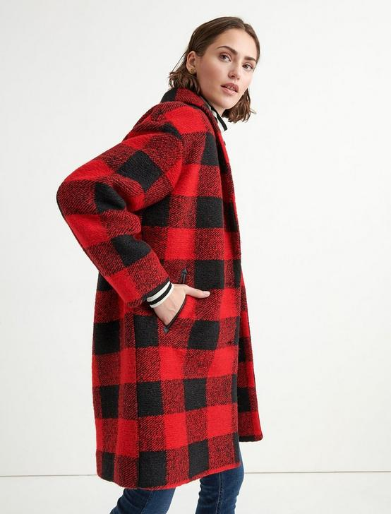 BUFFALO CHECK COAT, RED MULTI, productTileDesktop
