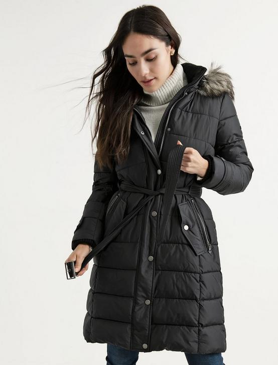 LONG PUFFER COAT, 001 LUCKY BLACK, productTileDesktop