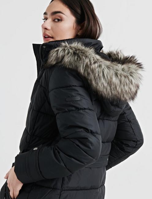 LONG PUFFER COAT, 001 LUCKY BLACK