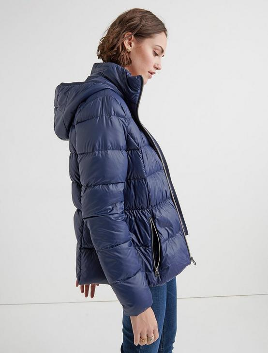 HOODED PUFFER JACKET, MIDNIGHT, productTileDesktop
