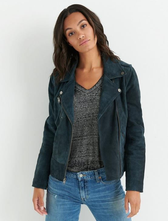 SUEDE MOTO JACKET, NAVY, productTileDesktop