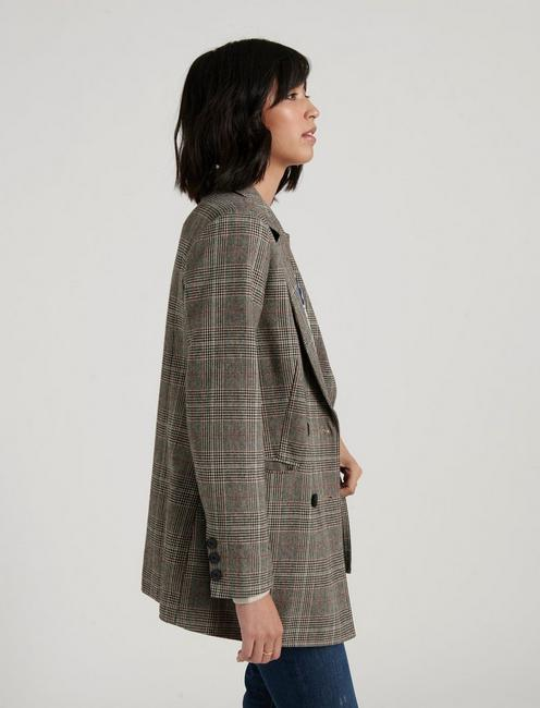 BOYFRIEND BLAZER, GREY MULTI
