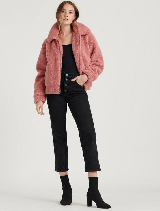 TEDDY JACKET, BLUSH, productTileDesktop