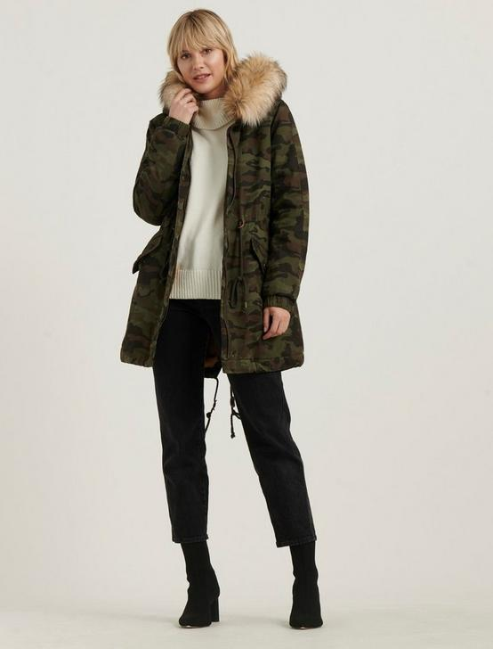 CAMO PARKA, GREEN MULTI, productTileDesktop