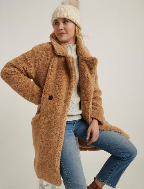 TEDDY COAT, 231 TAN