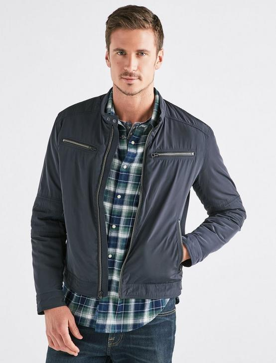 NYLON BONNEVILLE JACKET, #437 NAVY, productTileDesktop