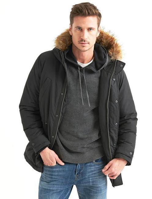 FUR TRIM PUFFER JACKET,