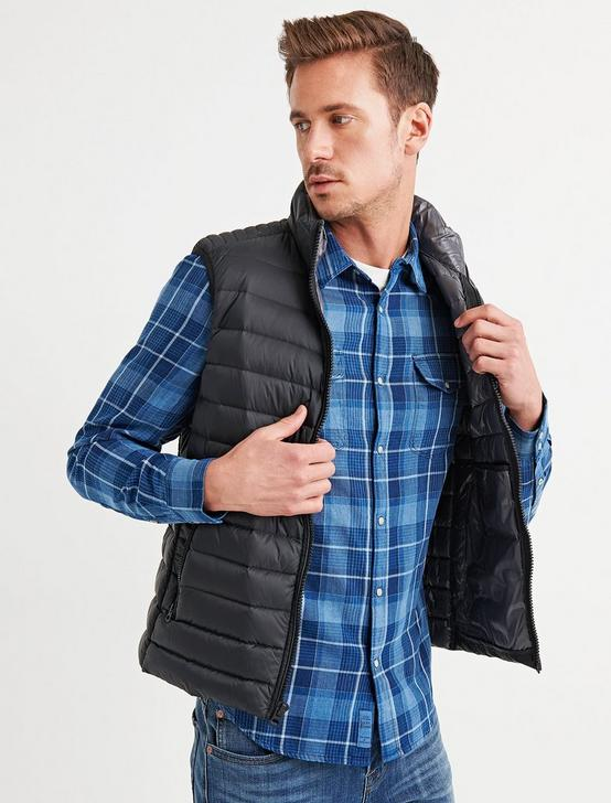 PUFFER VEST, #001 BLACK, productTileDesktop