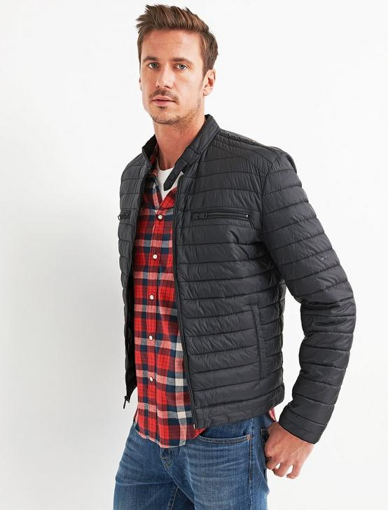 QUILTED RACER JACKET, #001 BLACK, productTileDesktop