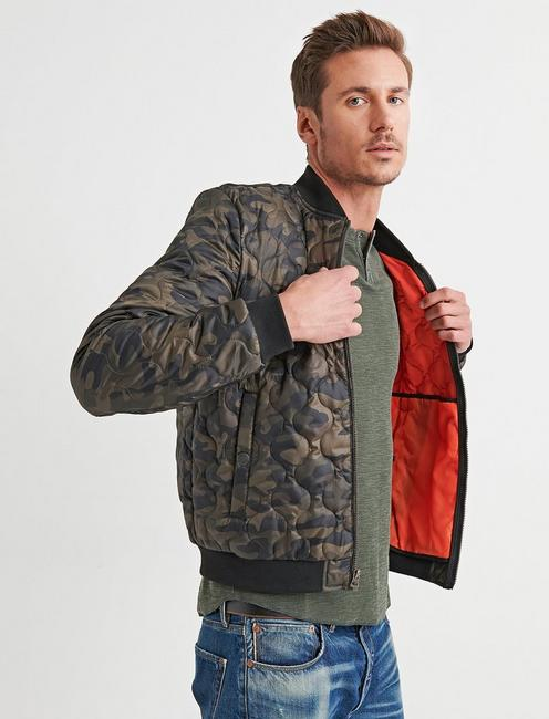 f946f33b1 Camo Quilted Bomber | Lucky Brand