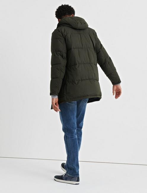 HOODED PUFFER JACKET, 378 OLIVE