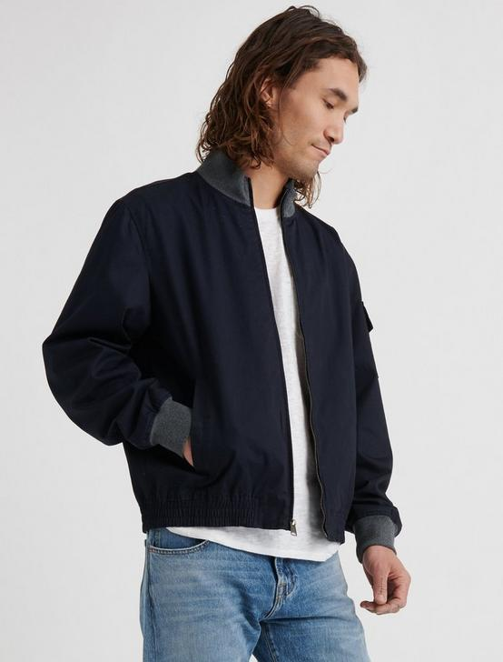 BOMBER JACKET, #437 NAVY, productTileDesktop